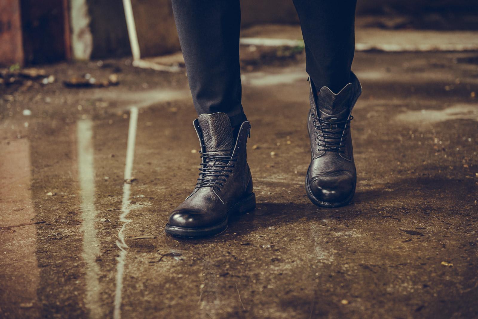 foto dettaglio anfibio scarpa inverno 2015